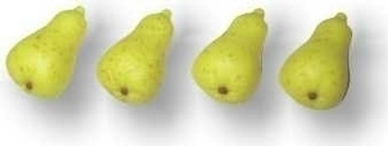 Decor-Birnen aus Marzipan