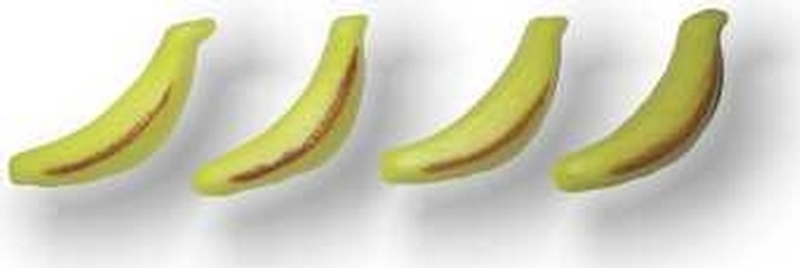 Decor-Banane aus Marzipan